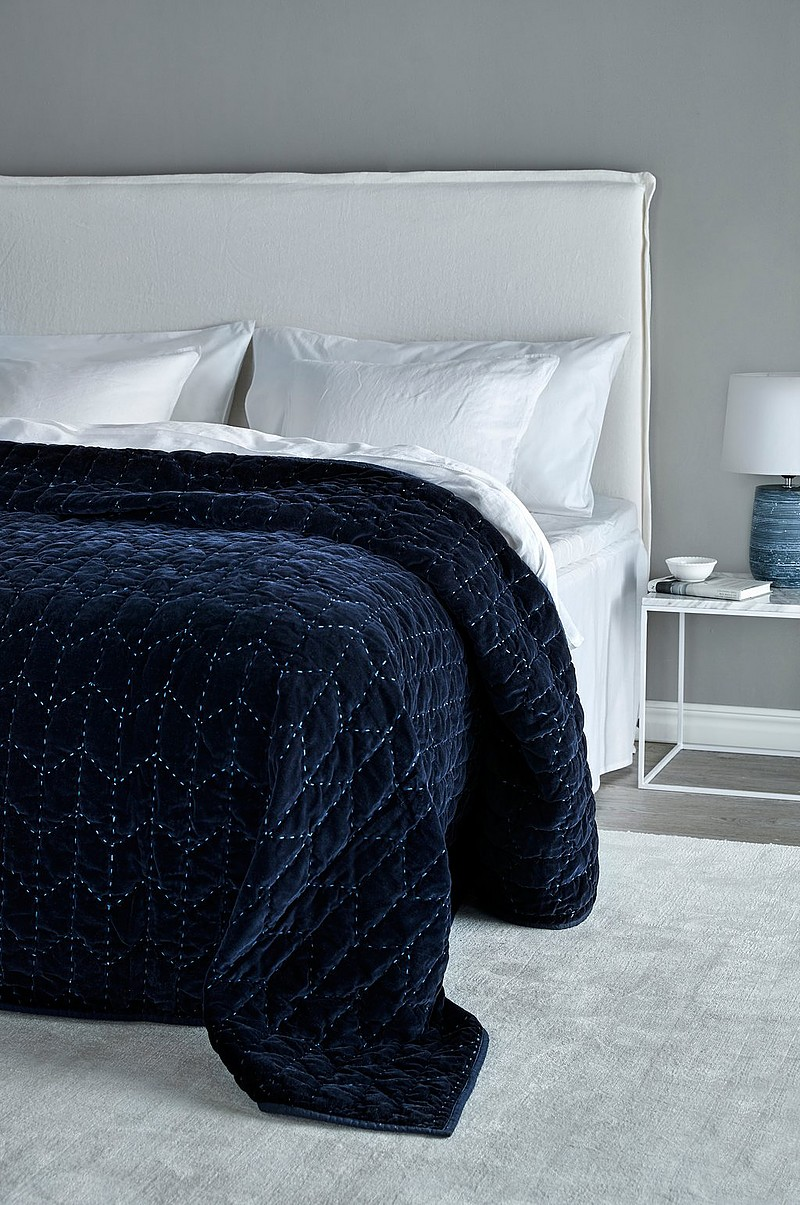 Alvorlig Jotex HERA sengetæppe - dobbeltseng 260 cm - Blå - Tekstiler MA67