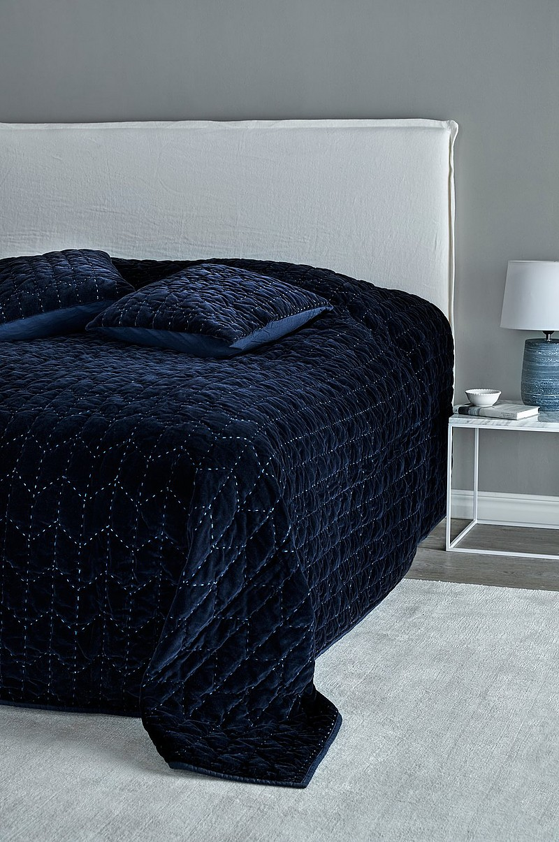 Utroligt Jotex HERA sengetæppe - dobbeltseng 260 cm - Blå - Tekstiler CK98
