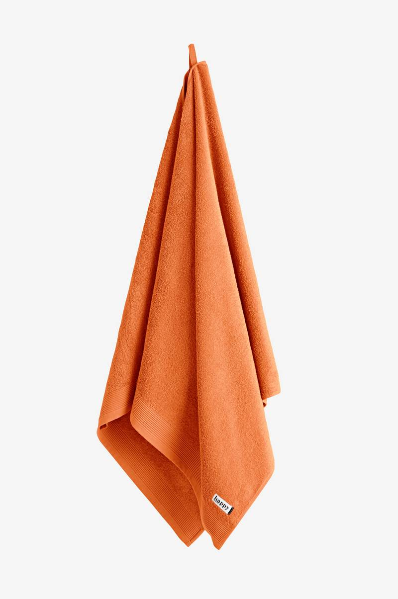 Happy HAPPY-kylpypyyhe - Oranssi - Kylpyhuoneen tekstiilit - Jotex.fi 6b86faa809056