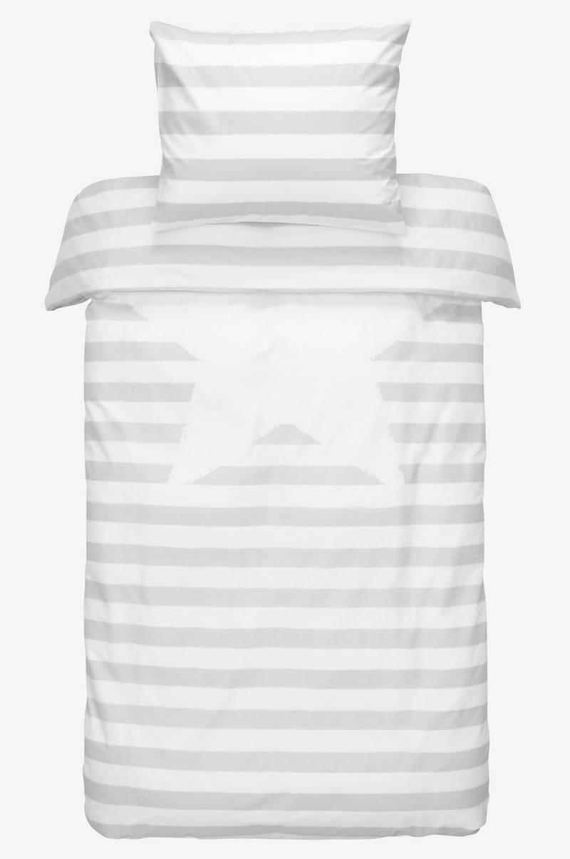 Bare ut Kid stripe KID STRIPE sengesett 2 deler - økologisk - Grå BC-22