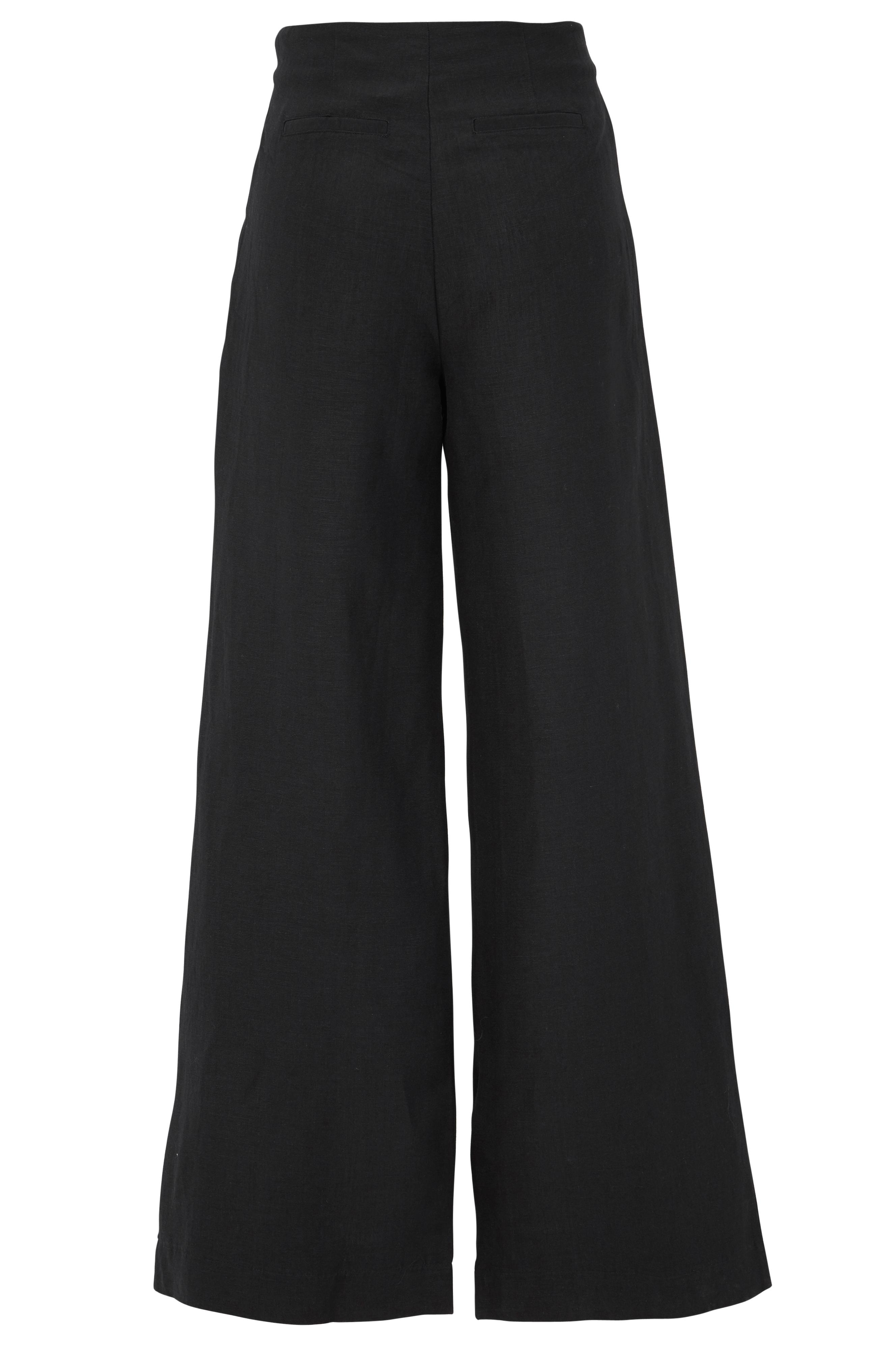 Ellos Collection Freja-pellavahousut - Musta - Naiset - Ellos.fi c8839d56b5