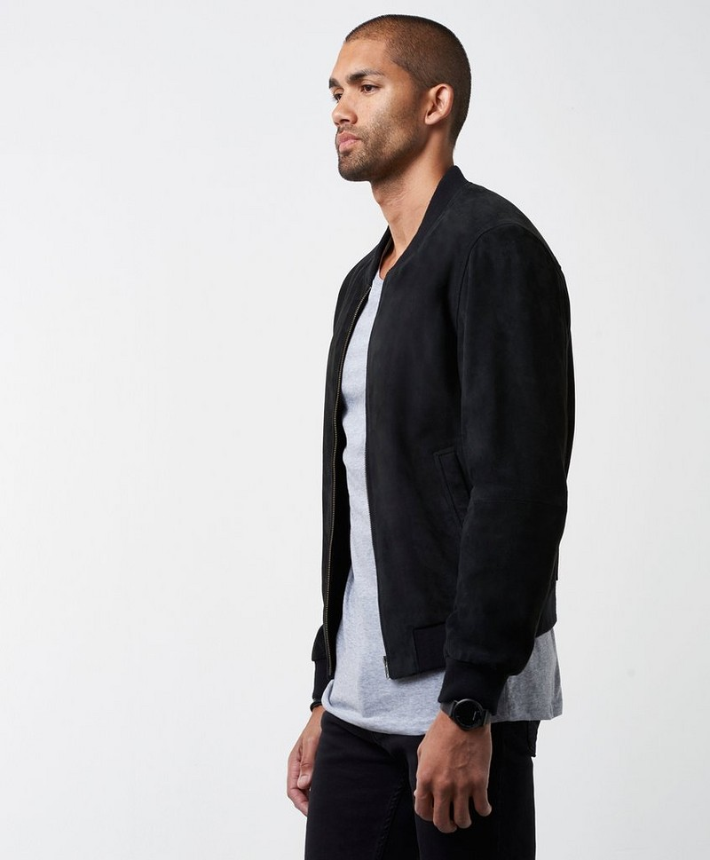 Ross Suede Bomber