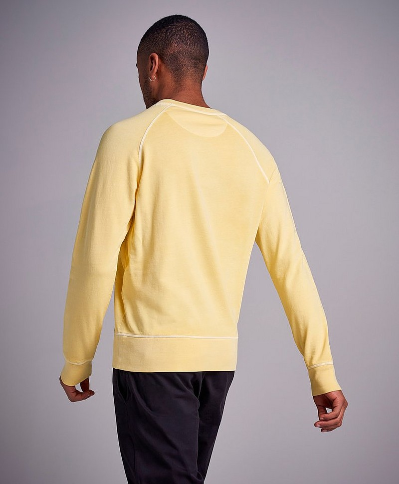 Sunbleached C-Neck Sweat Persian Blue