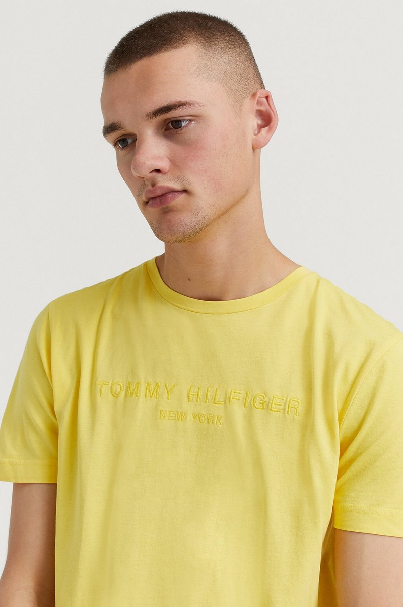 Garment Dye Logo Tee Yellow