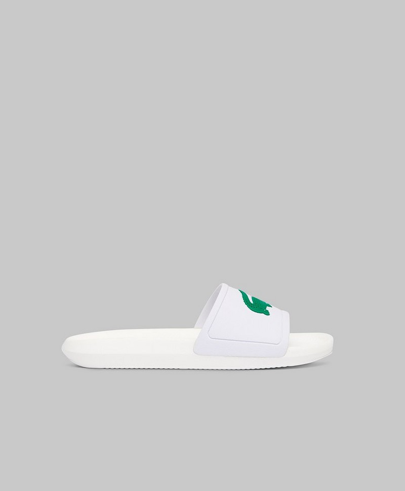 Croco Slide 119 1 White/Green