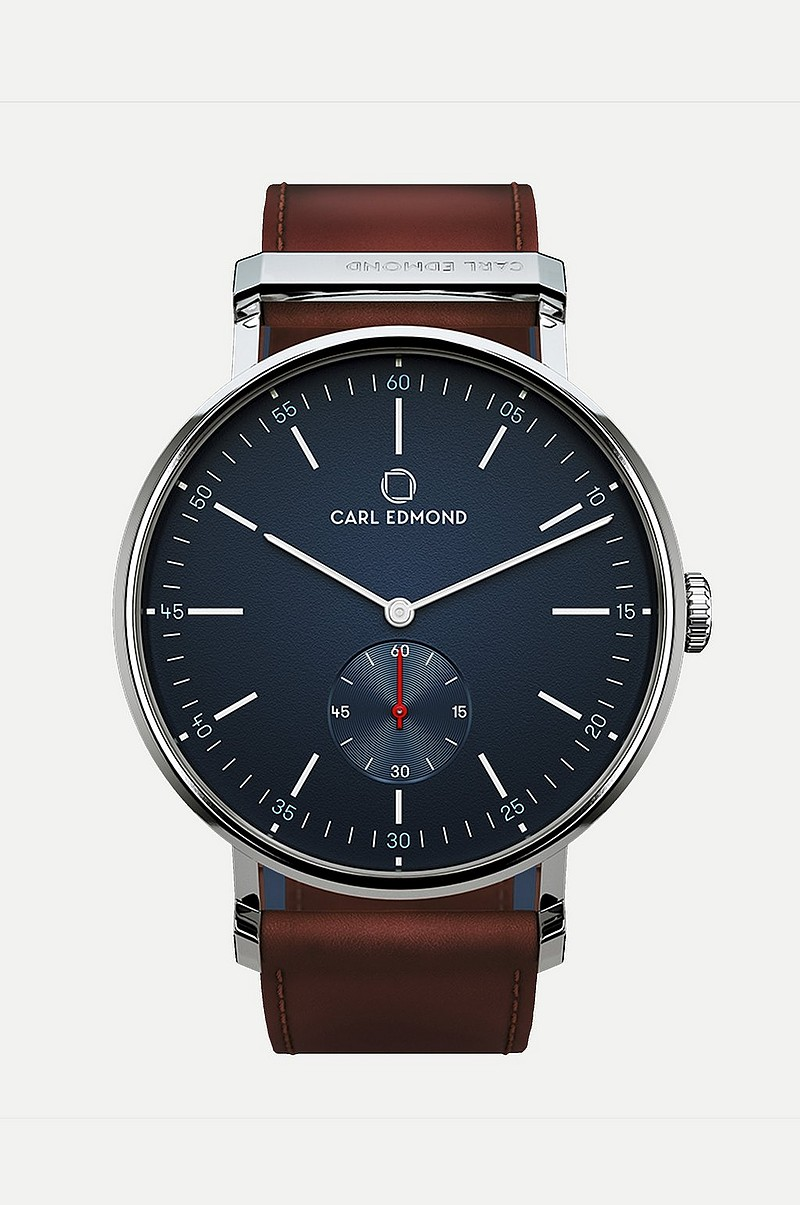 Ryolit Navy Blazer - Burbundy Leather Strap + Brown Leather Strap