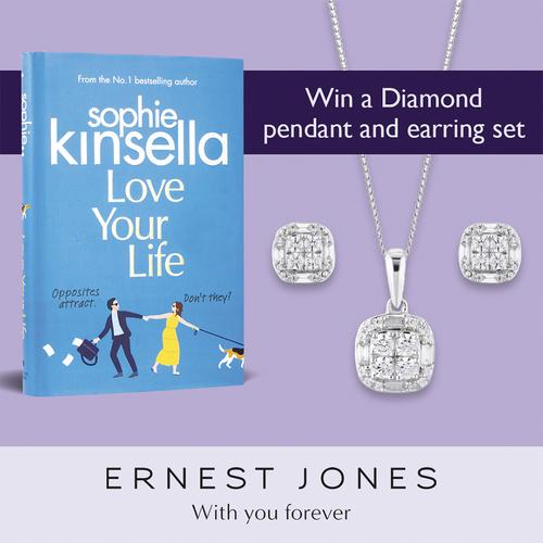 Win a Diamond pendant and earring set with Love Your Life by Sophie Kinsella