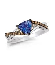 Le Vian 14ct Vanilla Gold Tanzanite & Diamond Ring
