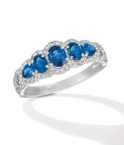 Le Vian 14ct Vanilla Gold Blueberry Sapphire & Diamond Ring