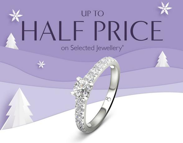Up to half price on selected jewellery