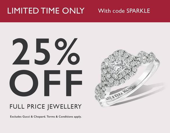25% off full price jewellery at Ernest Jones