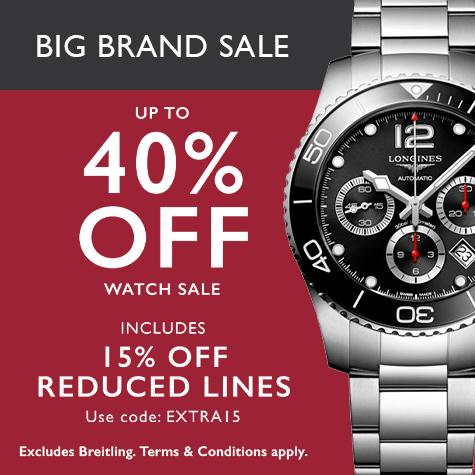 Up to half price luxury watch sale