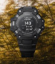 Casio G-Shock Heart Rate Monitor Men's Black Resin Watch