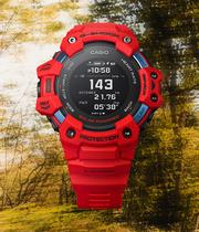 Casio G-Shock Heart Rate Monitor Men's Red Resin Watch