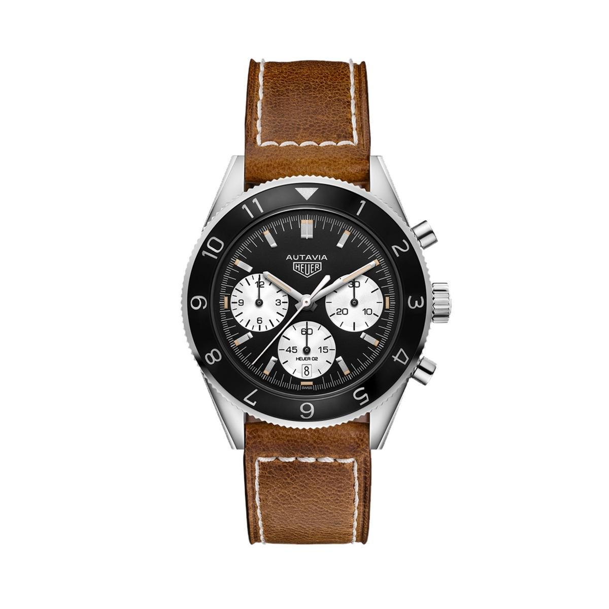 TAG Heuer Autavia Men's Brown Leather Strap Watch