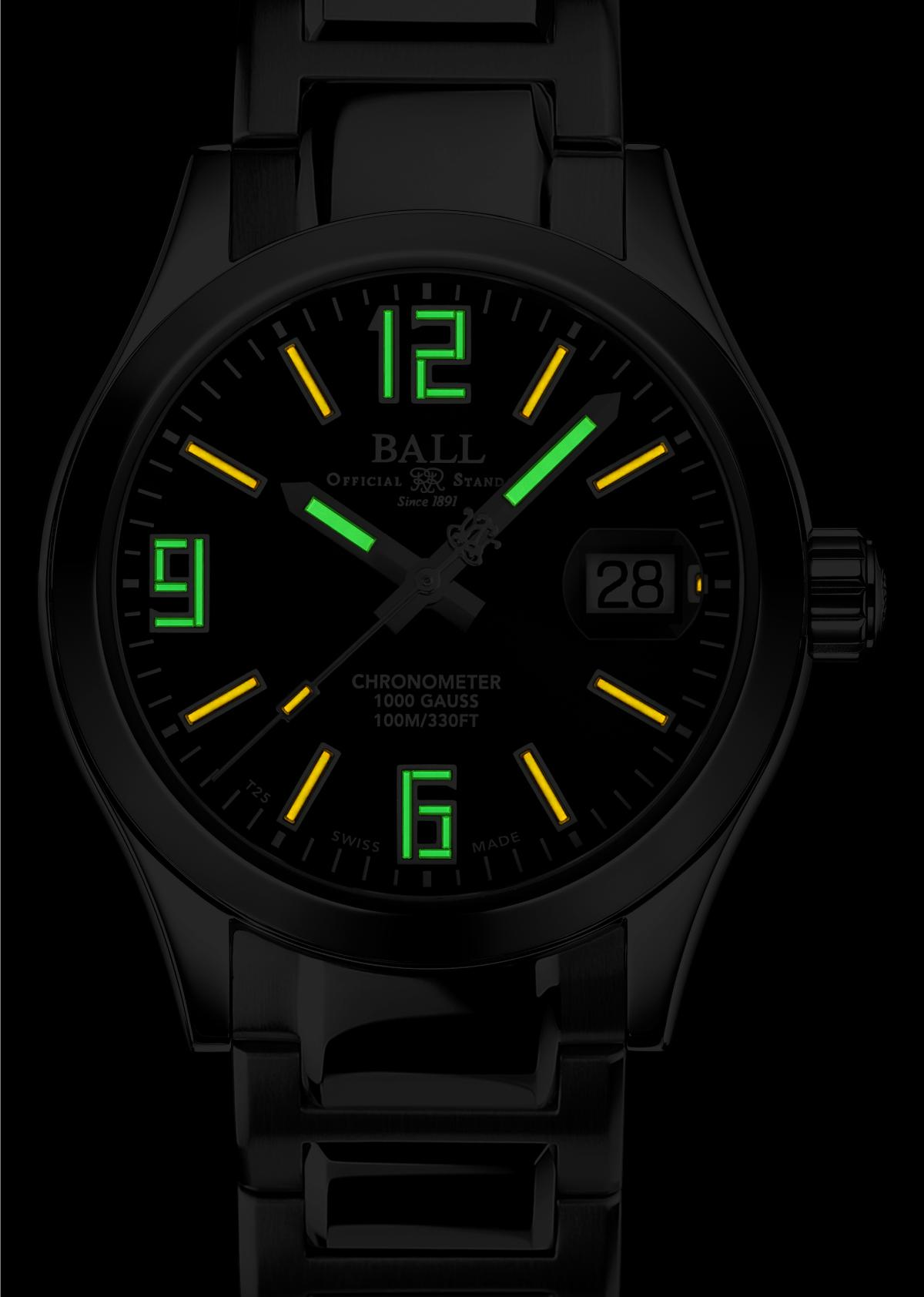 Green dial and Black watch