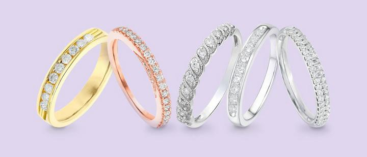 Diamond-Set Wedding Rings at Ernest Jones