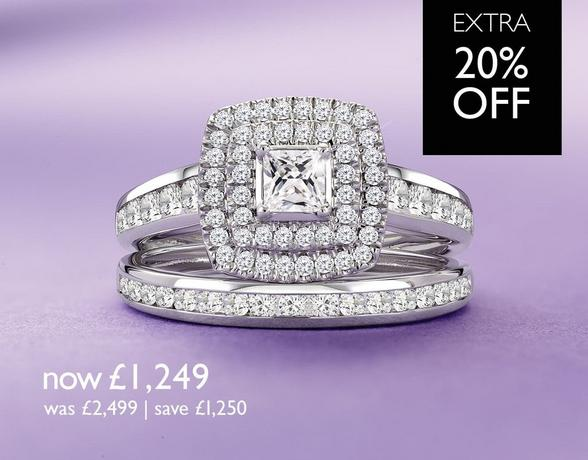 Diamond Bridal Sets - now £1,249 - at Ernest Jones