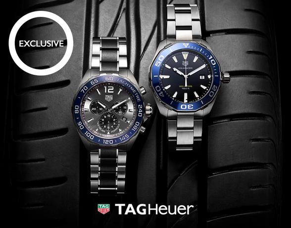 TAG Heuer Aquaracer and Formula 1 watches - exclusive to Ernest Jones