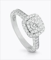 Neil Lane 14ct White Gold 0.87ct Diamond Halo Ring