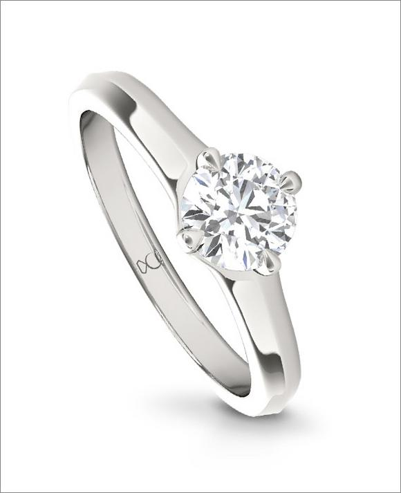 The Diamond Story 18ct White Gold 1/3ct Diamond Ring