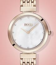 BOSS Celebration Ladies' Rose Gold Tone Bracelet Watch