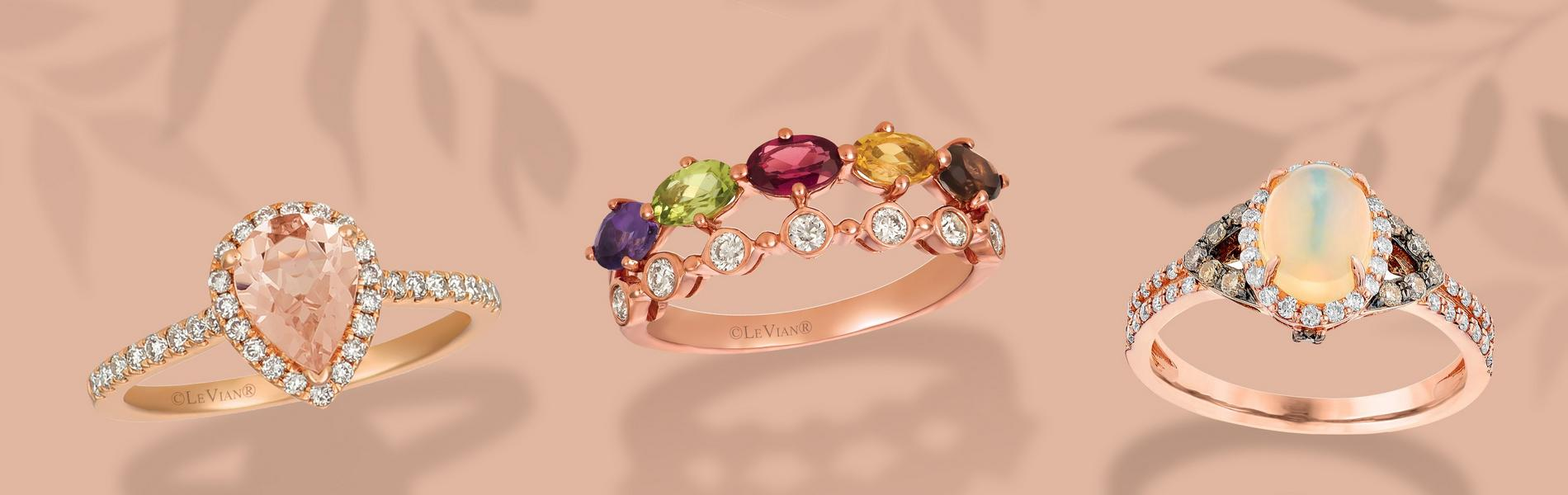 Diamond and gemstone rings
