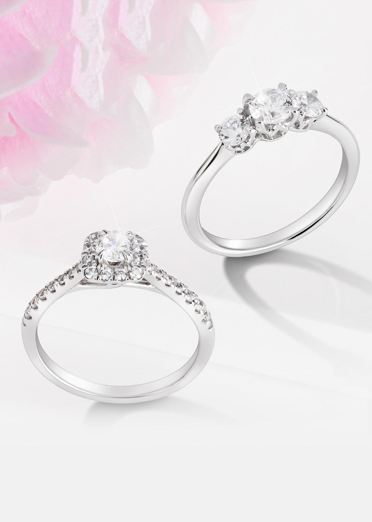 Two diamond engagement rings