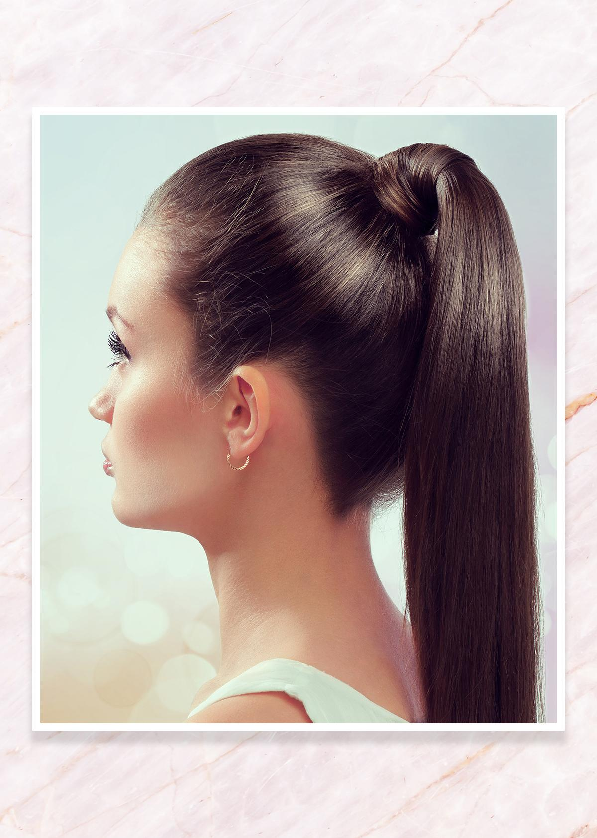 Earrings for a high pony tail