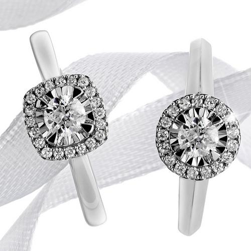 two engagement rings in different styles