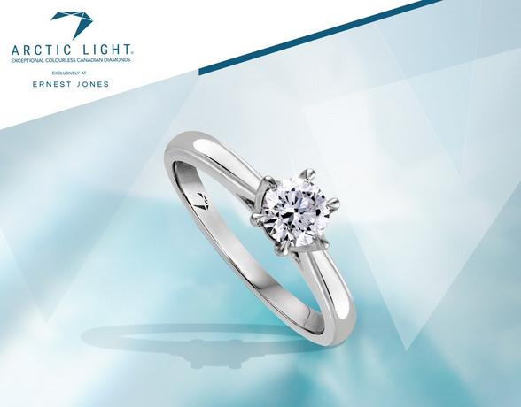 Arctic light white gold engagement rings