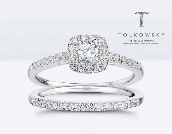 Tolkowsky Engagement rings  at Ernest Jones