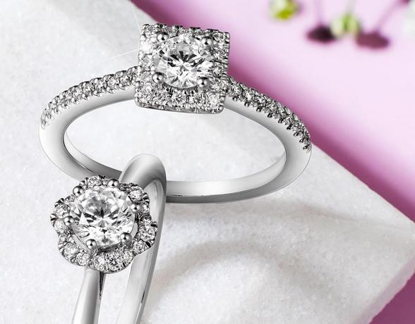 Halo Settings Diamond Rings from Ernest Jones