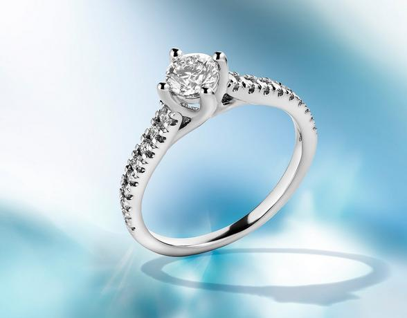 Arctic light platinum engagement rings