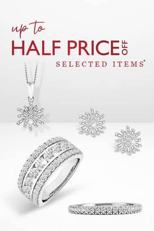 Up to half price selected jewellery