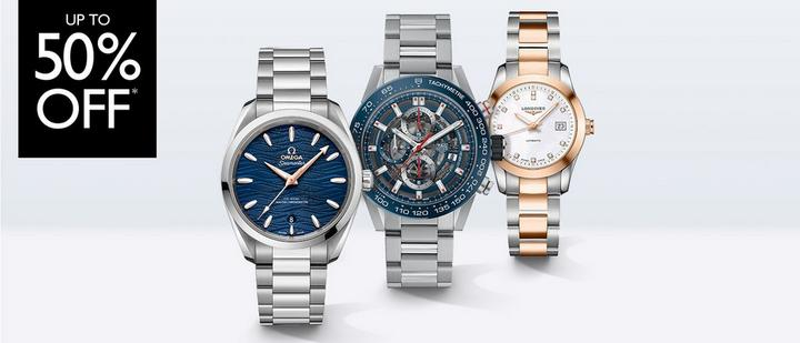 Up to 50% off watches at Ernest Jones