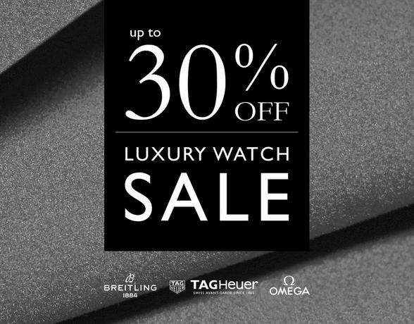 Luxury Watch SALE - up to 30% off iconic Swiss watchmaking brands such as TAG Heuer, Breitling, Omega and Longines - at Ernest Jones now