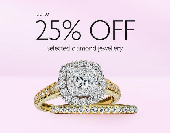 25% off Diamonds at Ernest Jones