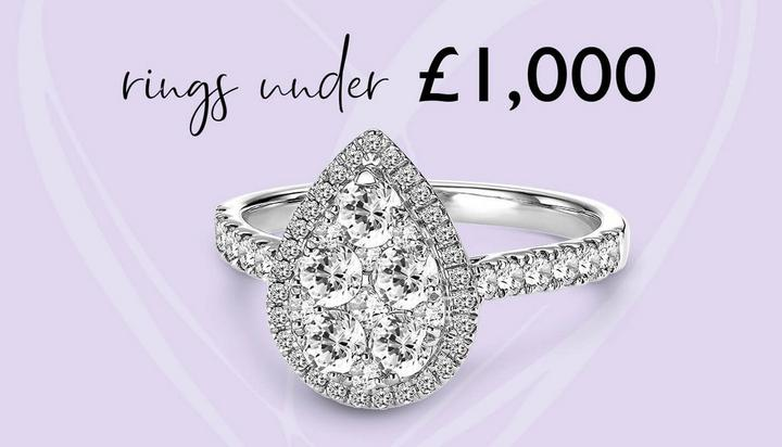 Pear Sharp Engagement Rings under £1,000 from Ernest Jones