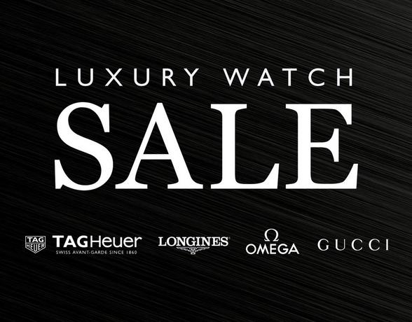 Luxury Watch Sale - TAG Heuer, Longines, Omega, Gucci