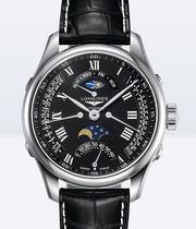 Longines Master Collection Men's Black Chronograph Watch