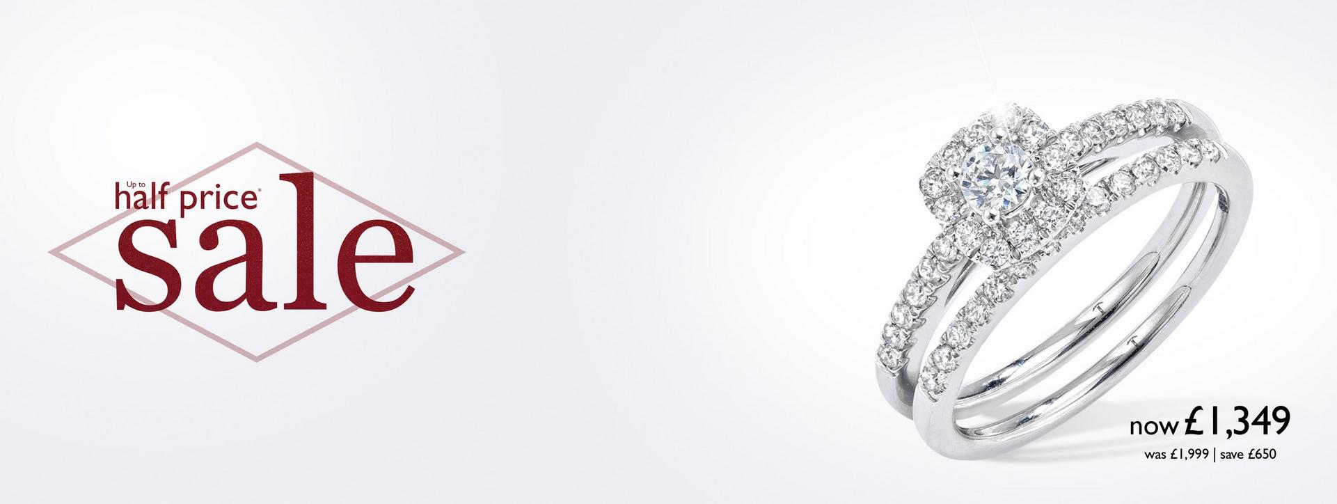 Up to 50% off Diamond Engagement Rings at Ernest Jones