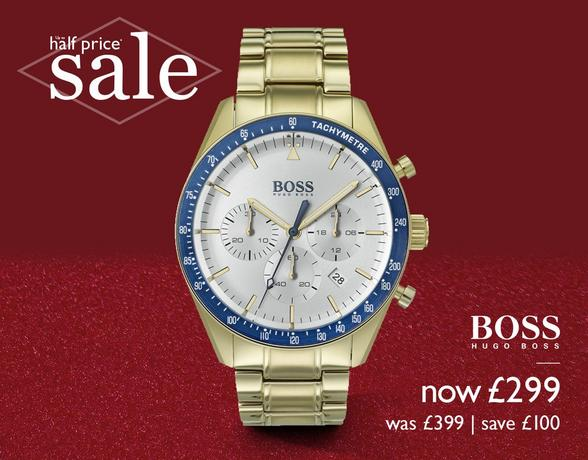 Up to half price men's watches - BOSS, Emporio Armani, Casio