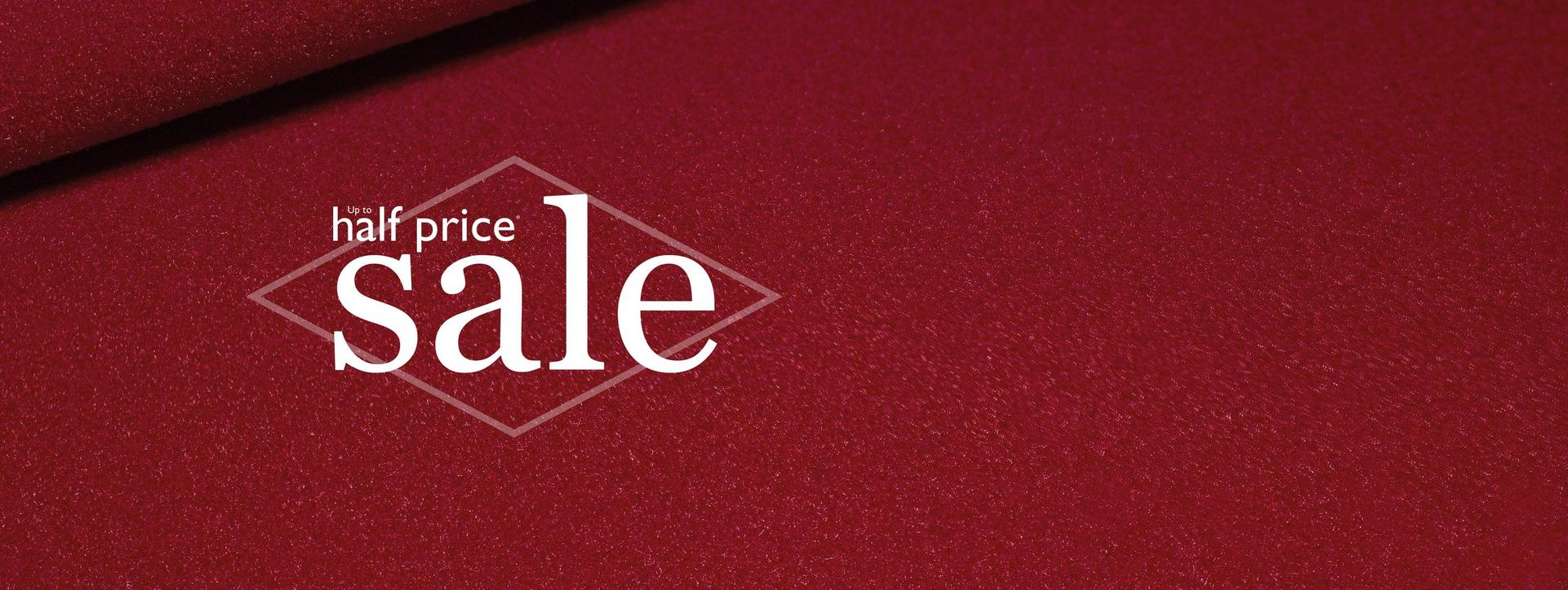Up to half price sale at Ernest Jones
