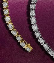 The Christmas bracelets collection - choose from a wide range of diamond, gold and silver bracelets at Ernest Jones