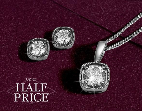 Diamond jewellery - Christmas gifts for her from Ernest Jones