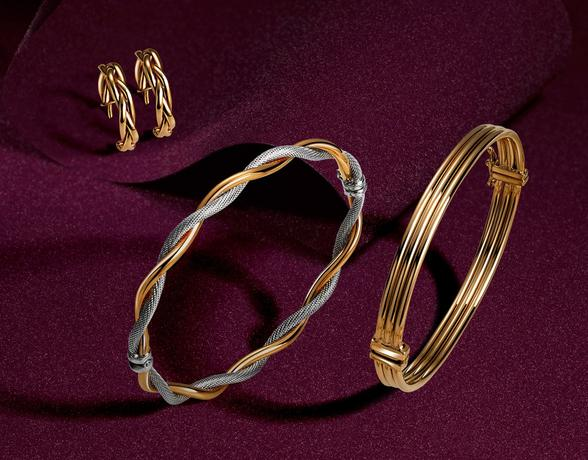 Gold luxury jewellery from the Christmas collection at Ernest Jones