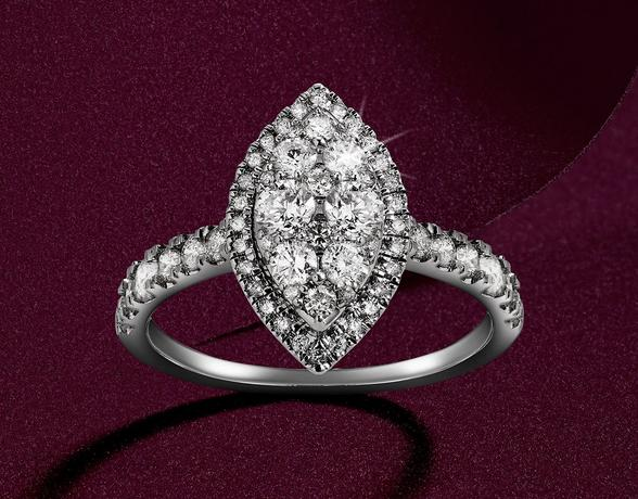 Diamond Engagement Rings in the Christmas collection at Ernest Jones