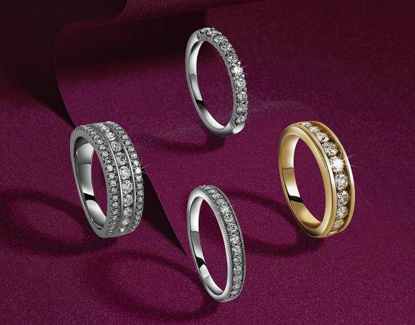 Diamond Eternity Rings in the Christmas collection at Ernest Jones