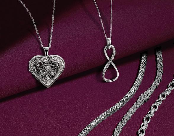 Sterling silver diamond jewellery part of the Christmas Collection at Ernest Jones